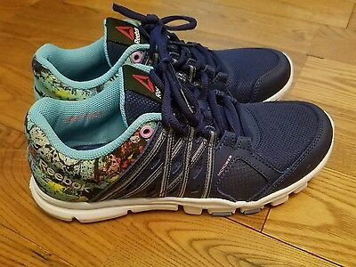 Brand New Womens Blue Multi REEBOK Memorytech Yourflex Trainette Size 6.5