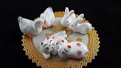 Chopsticks holder ceramic porcelain cat duck animal lazy lovey rabbit hang cute