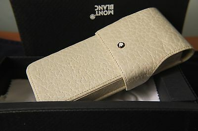 Montblanc Ivory Leather 3 pen case  - unused in box