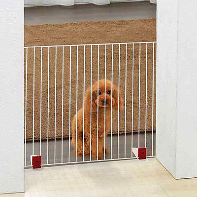 Freestanding Pet Gate Portable Puppy Safety Pen 56cm High In Brown or White NEW