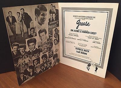 GREASE A New 50's Rock'n Roll Musical Promotional Program Brochure Undated Rare