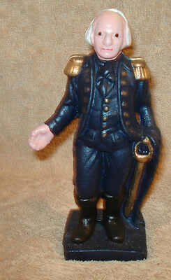 Cast Iron President George  Washington Soldier Bank Slotted Screw  6'' Tall