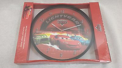 Disney Pixar Cars Lightyear Lightning McQueen Wall Clock Brand New & Sealed