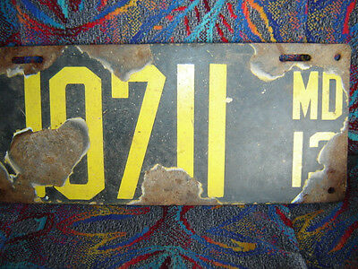 1913 Maryland license plate