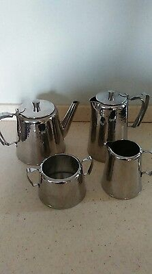 vintage hammered old hall tea set