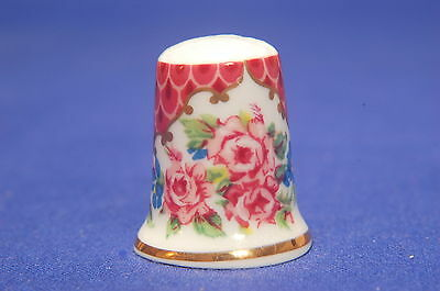 Royal Worcester Historical Patterns 'Pink Scale' China Thimble B/65