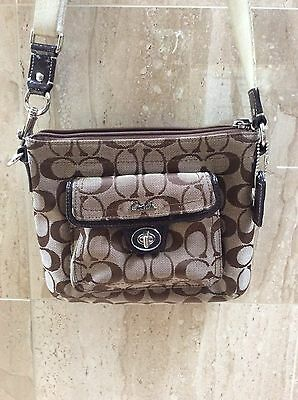"COACH Cross Body Bag 42"" Shoulder Strap Messenger Brown Tan"