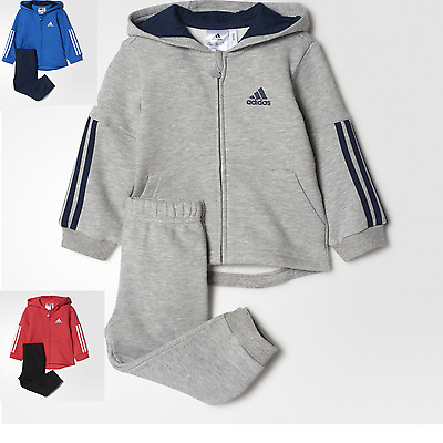 Adidas Baby Kids Boys Girls Toddler Tracksuit Set Play Gym Cotton Hooded New