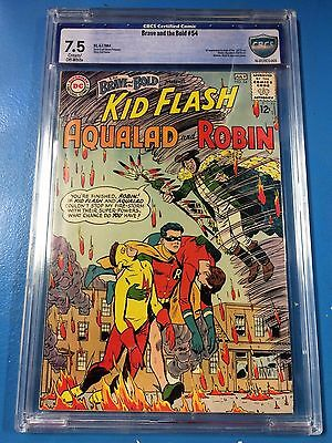 Brave and the Bold #54 CBCS 7.5 1st Teen Titans 1964 Canada Seller