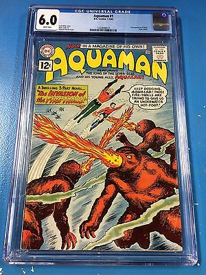 Aquaman #1 CGC 6.0 1962 White Pages Clean and Crisp Copy