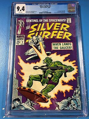 Silver Surfer #2 CGC 9.4 1968 White Pages Beautiful Copy
