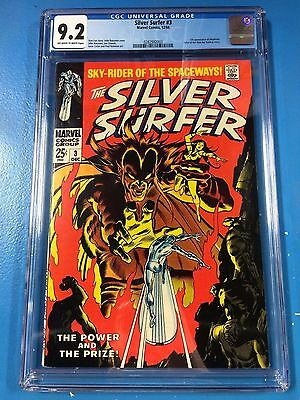 Silver Surfer #3 CGC 9.2 1968 O/W-W Pages Beautiful Copy 1st Mephisto