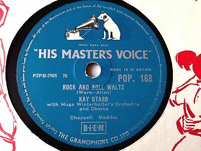 Kay Starr Rock And Roll Waltz 10'' 78 Shellac Uk Orig Hmv Pop 168 Nm