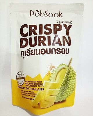 THAI FRUIT DURIAN  NATURAL HEALTHY  DELICIOUS FREEZE DRIED  SNACK FOOD 1x25g