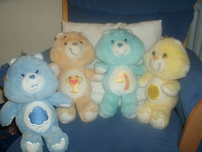 Collection of Vintage Care Bears Plush Toys