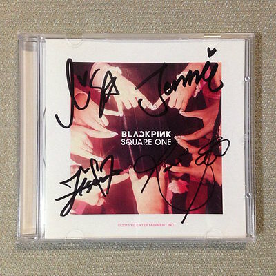 "BLACKPINK autographed ""SQUARE ONE"" signed Promo CD 1st Digital Single"