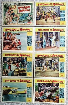 LOVE SLAVES OF THE AMAZONS ORIGINAL 1957 SET OF 8 LC's 11X14 GOOD-EX