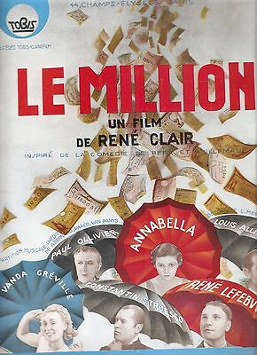 Document Publicitaire Le Million Annabella Rene Lefevre Rene Clair