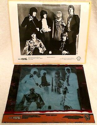 Deep Purple 1968 Original U.s. Press Photo & Negative Tetragrammaton/sutton!!!!