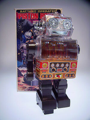 "GSR ""PISTON ROBOT"", HORIKAWA,  23cm, FAST NEU/NEARLY NEW IN GOOD BOX, BO OK,  !!"