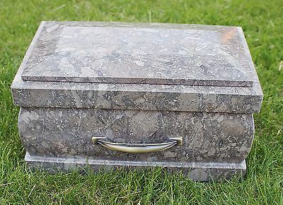 Adult Marble cremation Ashes urn, Large Memorial funeral outdoor garden Casket