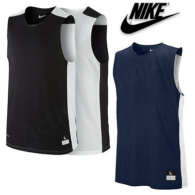 Nike Mens Reversible Basketball Vest Dri Fit Running Gym Top Size S M L XL XXL