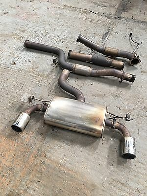 "Ford Focus MK2 ST225 3 Door Stainless Steel Exhaust System 3"" With Sports Cat"