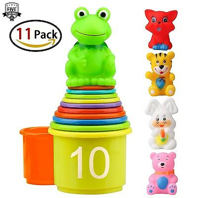 Homder The First Years Nesting Stacking Up Cups with Numbers Animals for Kids