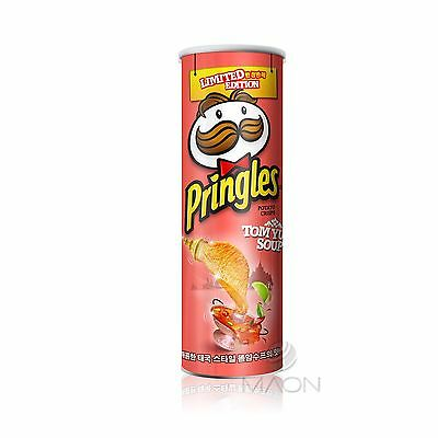 [Pringles] Tom Yum Soup Potato Chips 110g(3.88oz) 1ea Korea Only Limited edition