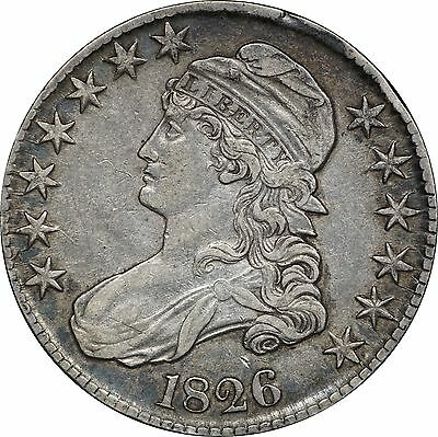 1826 Capped Bust Half Dollar, Very Fine VF