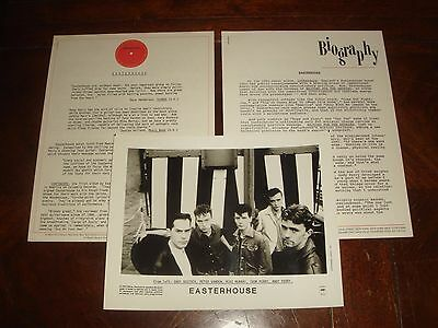 Rare EASTERHOUSE ANDY PERRY 1986 COLUMBIA RECORDS PRESS KIT + 1989 BIO 5 pieces