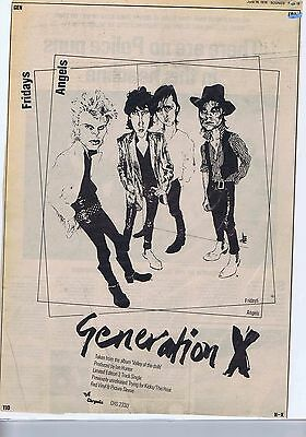 GENERATION X		large press clipping	1979	appr 30 x 40cm