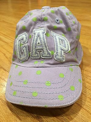 Baby Gap Toddler Girl Polka Dot Baseball Hat With Bow XS/S