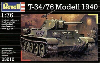 1/76 - Revell - T-34/76 Modell 1940 Russian Tank WWII - Complete kit 2nd Hand