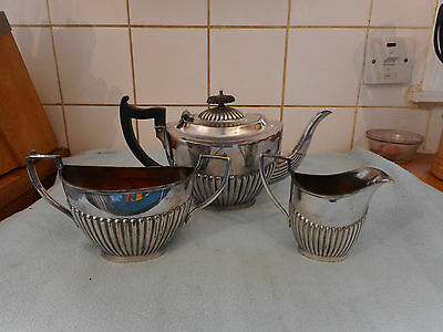 Antique  W & S Silver Plate  Art Deco Teapot  Tea Set