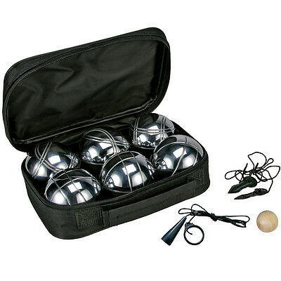 Bowling ball boules set 6 x bocce-ball game Boccia with Carrying case NEW