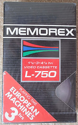 MEMOREX L-750 BETAMAX TAPE - Brand New + Sealed - Blank Video Cassette