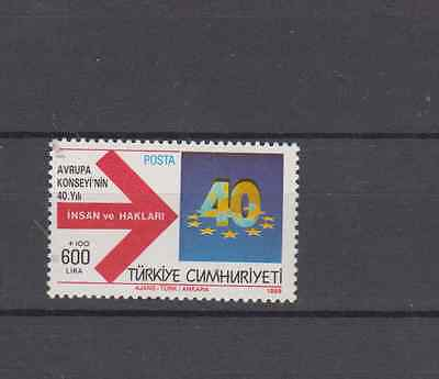 Turkey 1989 Council Of Europe Set Mint Never Hinged