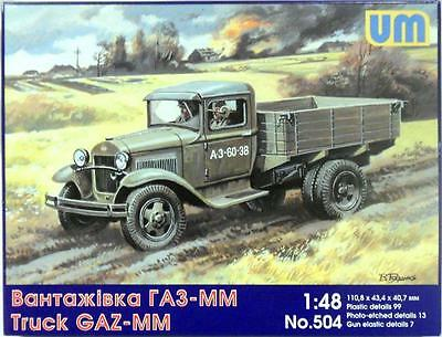1/48 GAZ-MM Soviet truck WWII - kit complete - instructions are missing