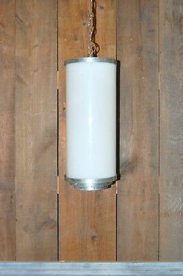Original Antique Art Deco Milk Glass Pendant Light Fixture, Vintage Lighting