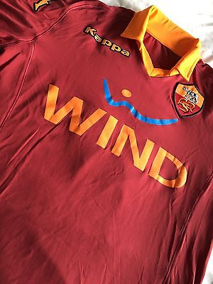 Player Issue AS Roma Home Shirt + COA - Long Sleeve