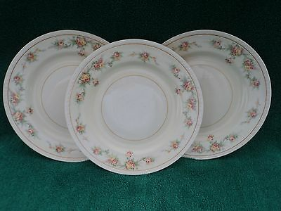 "Homer Laughlin ""countess"" Georgian Eggshell Three Salad Plates"