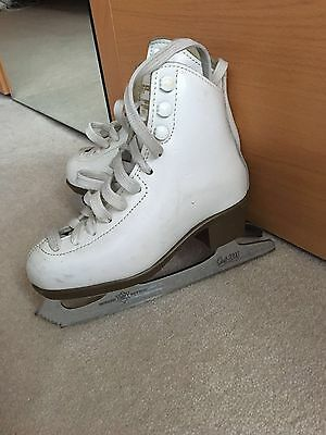 Risport Laser Girls skates. White Figure Skating Boots Size 10 Children's VGC