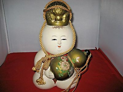 "Antique Japanese Gosho Ningyo Palace Doll Gofun Oyster Shell 9 1/2"" Tall Nice!!!"