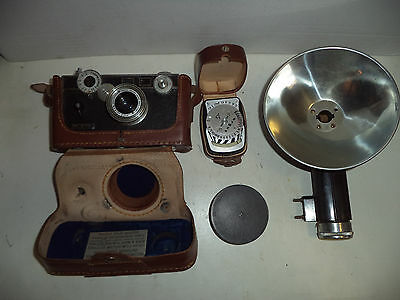 Antique Argus Metal Body Camera With Body Case And Accessories, Not Tested