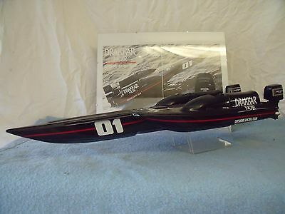 GUY LAROCHE - DRAKKAR NOIR - MAQUETTE / Model - RACE BOAT - TRES / Very RARE !