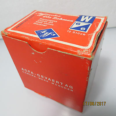12 Agfacolor Diarahmen Glass Slide Frames 6 x 6 5874/000 Made in germany.....