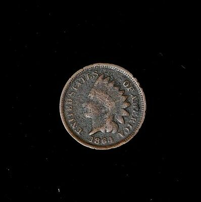 1864 Br 1C Indian Head Cent Circulated Us Type Coin Free Shipping No Reserve