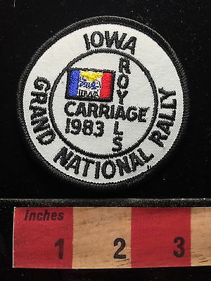1983 CARRIAGE ROYALS Grand National Rally Iowa Patch RV Campers Camping 68U9