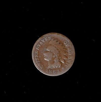 1883 1C Indian Head Cent Circulated Us Type Coin Free Shipping No Reserve